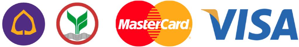 ยินดีรับบัตรเครดิตและโอนเงินผ่านธนาคาร